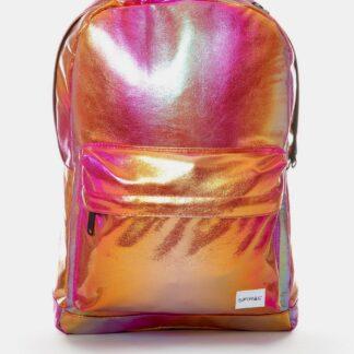 Růžový leský batoh Spiral