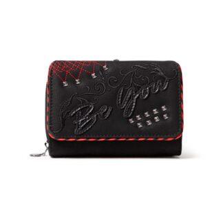 Desigual černé peněženka Mone Niki Maria Mini s výšivkou