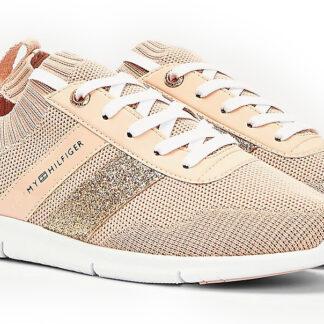 Tommy Hilfiger pudrové ponožkové tenisky Feminine Lightweight Sneaker Camo