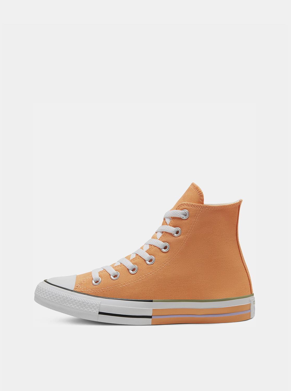 Oranžové kotníkové tenisky Converse Chuck Taylor All Star High Top