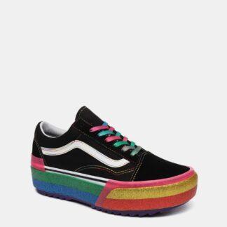 Černé dámské tenisky na platformě VANS