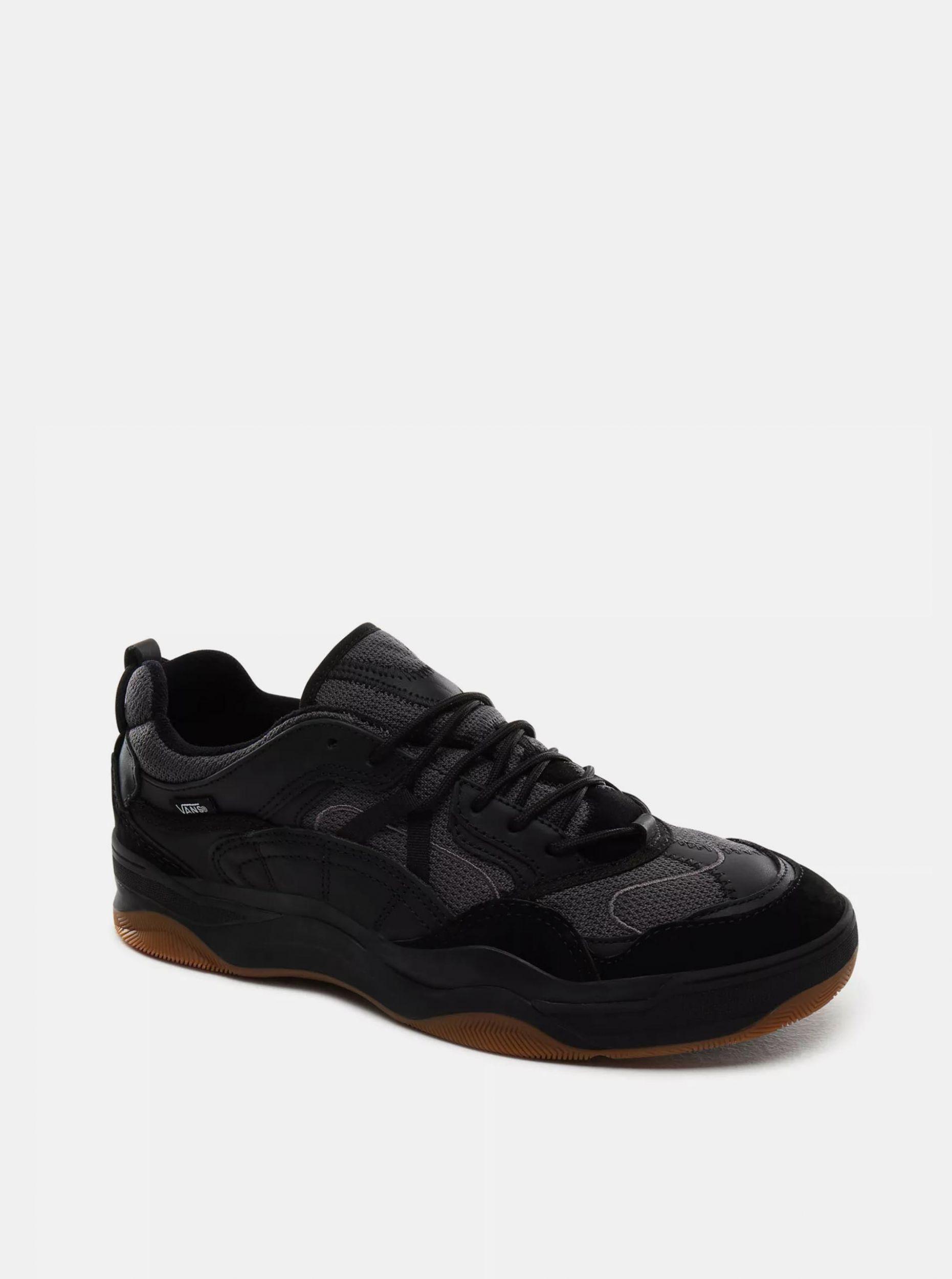 Černé dámské tenisky s koženými detaily VANS