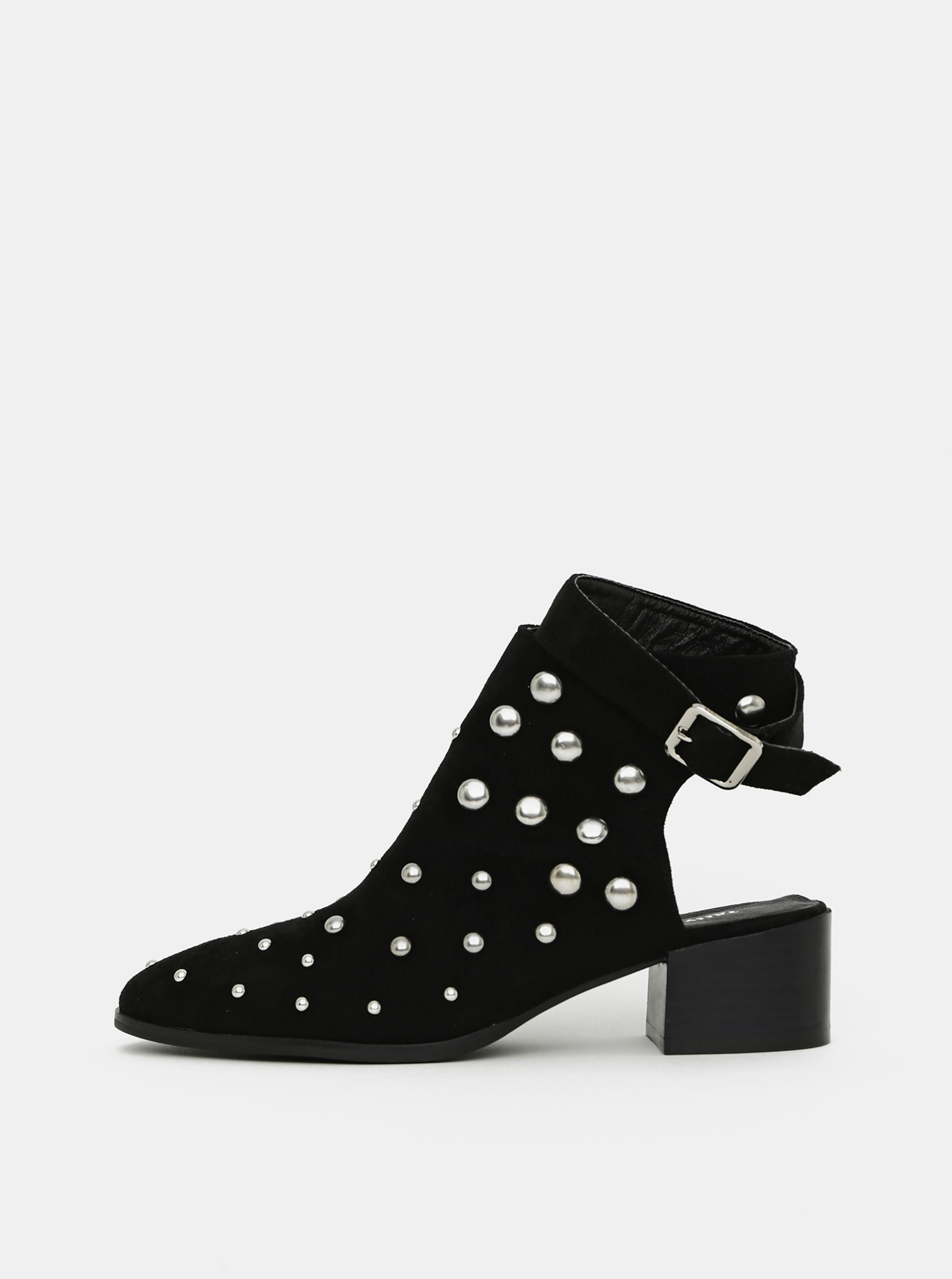 Černé kotníkové boty v semišové úpravě TALLY WEiJL