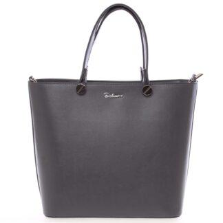 Luxusní tmavě šedá dámská kabelka - Delami Chantal šedá