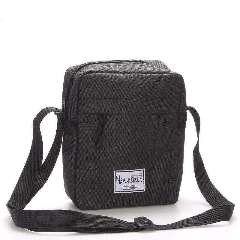 Unisex látková crossbody taška černá - New Rebels Rebelas černá