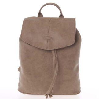 Kvalitní elegantní dámský taupe batůžek - Piace Molto Floriant taupe