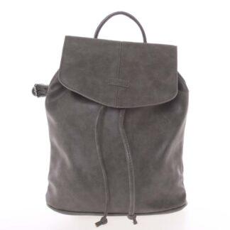 Kvalitní elegantní dámský šedý batůžek - Piace Molto Floriant šedá