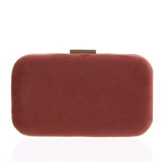 Luxusní semišové dámské psaníčko tmavě červené - Delami LK5625 červená