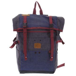 Kombinovaný cestovní batoh černo modrý - New Rebels Messer černá