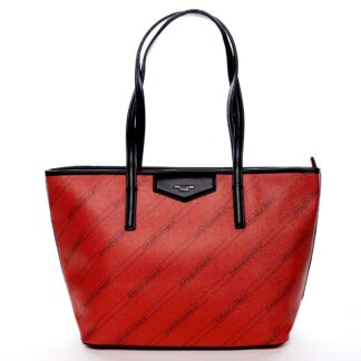 Velká červená moderní kabelka přes rameno - David Jones Abisag červená