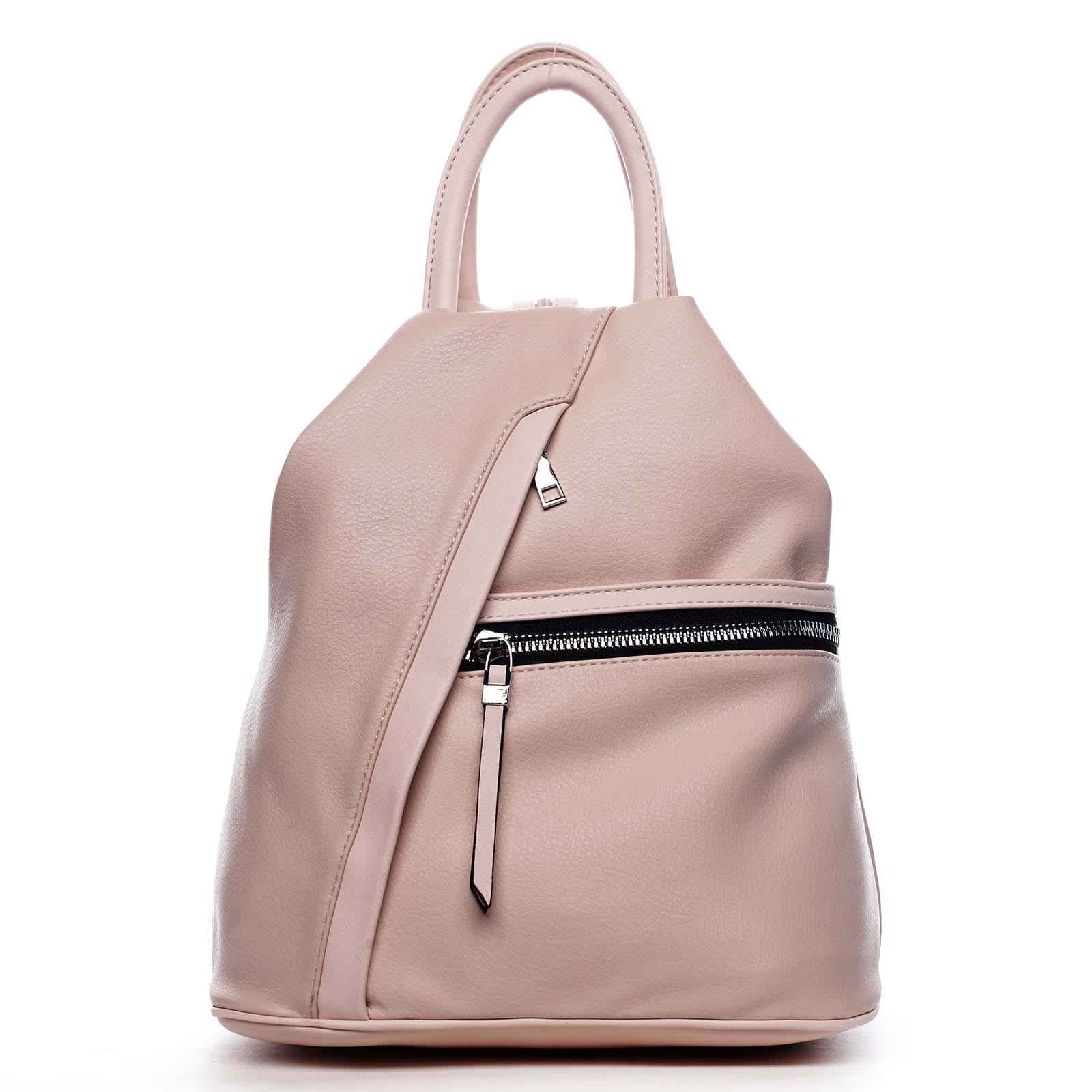 Originální dámský batoh kabelka růžový - Romina Imvelaphi růžová
