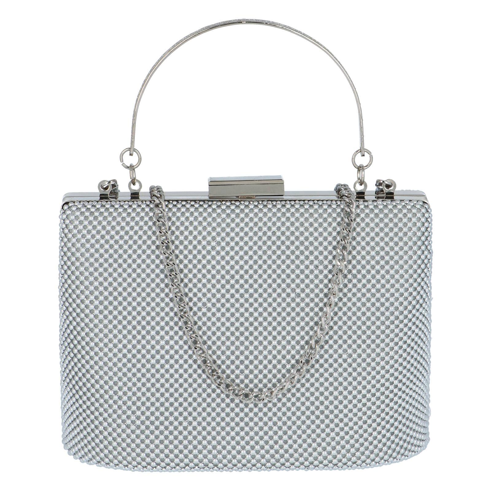 Dámské perleťové psaníčko stříbrné - Michelle Moon V380 stříbrná