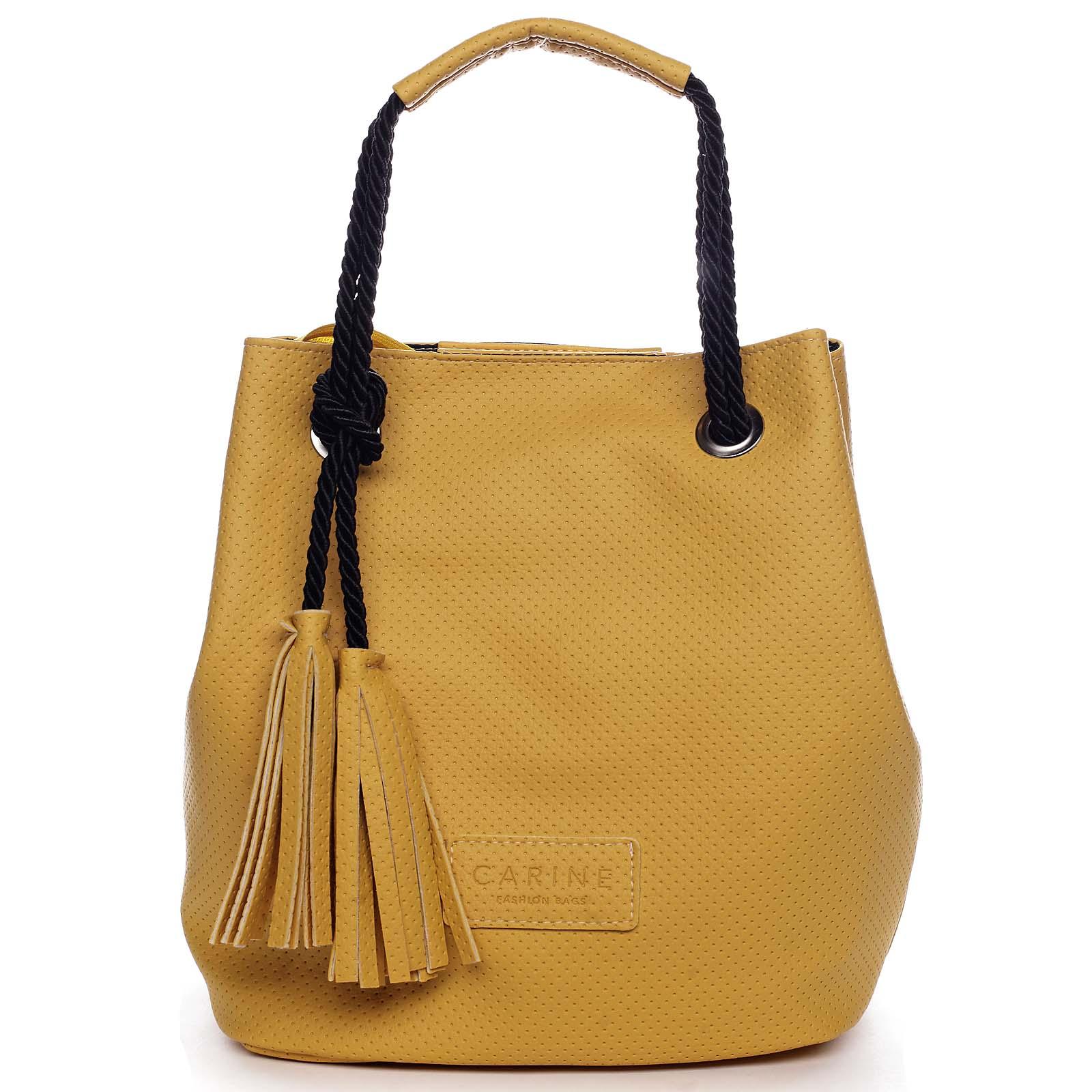 Dámská kabelka žlutá - Carine C2000 žlutá