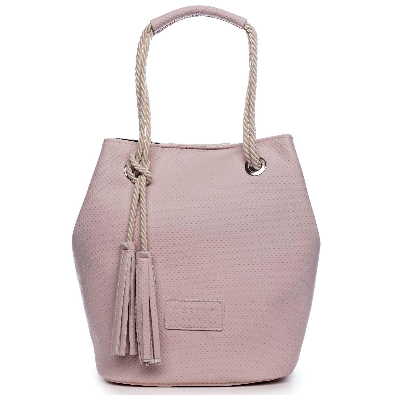 Dámská kabelka světle růžová - Carine C2000 růžová