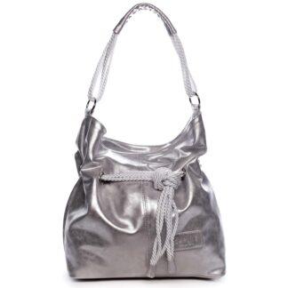 Dámská kabelka stříbrná - Carine C1000 stříbrná