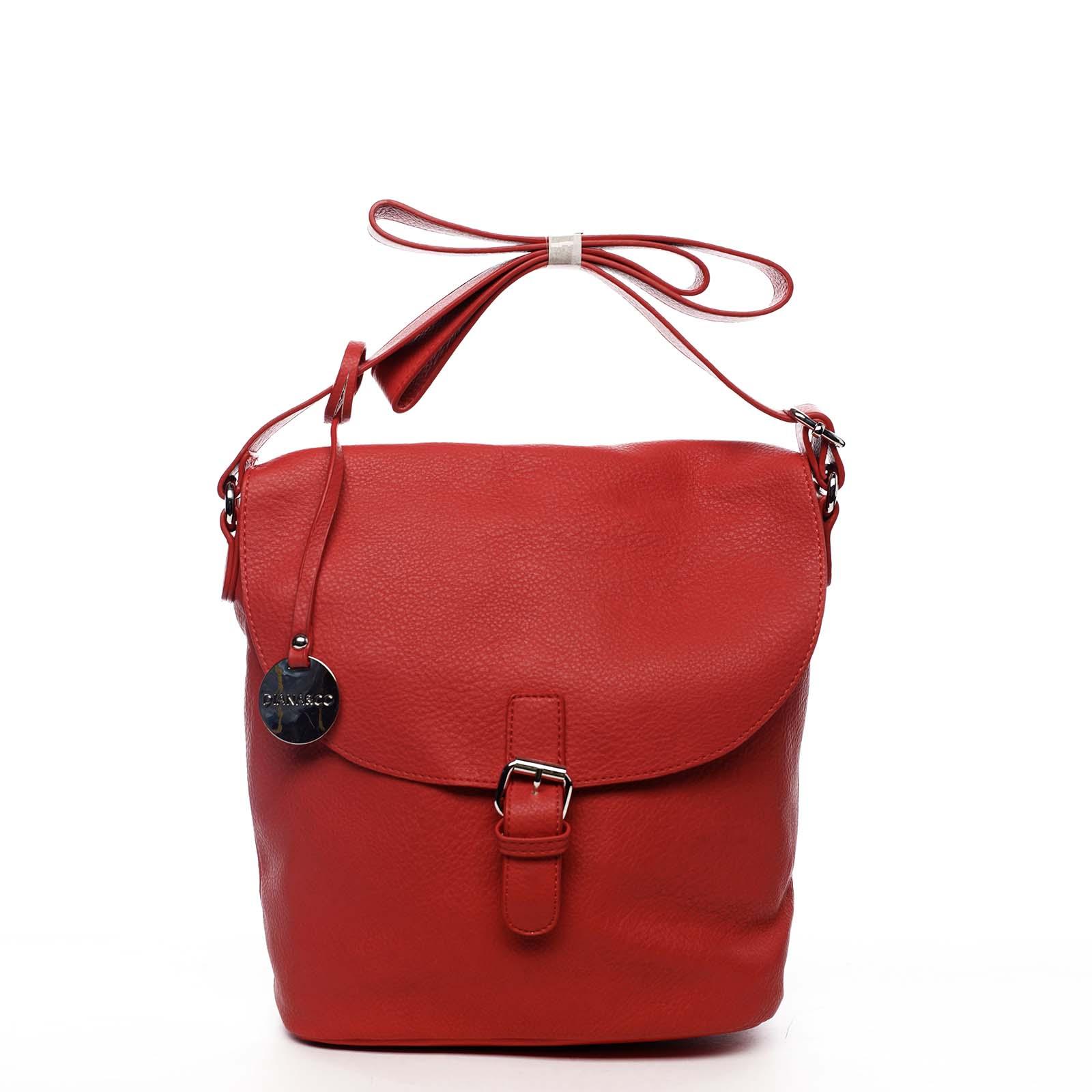 Dámská kabelka přes rameno červená - DIANA & CO Leilla červená