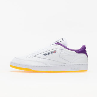 Reebok x Eric Emanuel Club C 85 White/ Regal Purple/ Retro Yellow FY3411