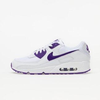 Nike Air Max 90 White/ Voltage Purple-Black CT1028-100