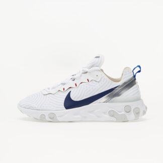 Nike React Element 55 White/ Midnight Navy-Bright Blue CW7576-100