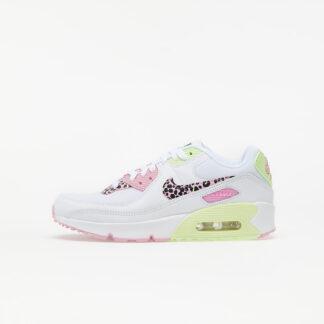 Nike Air Max 90 GS White/ Pink Rise-Pink Rise-Barely Volt DA4675-100
