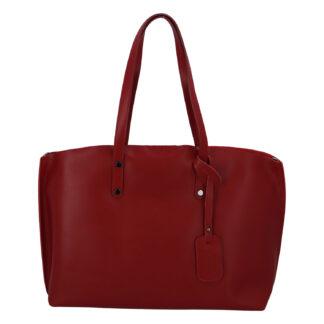 Dámská kožená kabelka tmavě červená - ItalY Jordana Two červená
