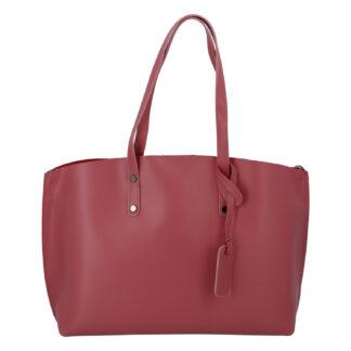 Dámská kožená kabelka tmavě růžová - ItalY Jordana Two růžová