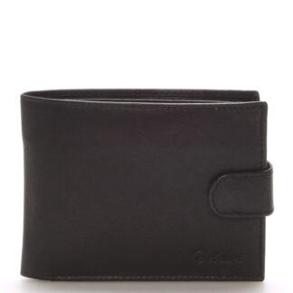 Pánská kožená černá peněženka - Delami 8945 černá