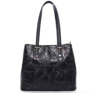 Exkluzivní dámská kožená kabelka černá - ItalY Logistilla černá