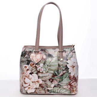 Exkluzivní dámská kožená kabelka pudrová - ItalY Logistilla barevná