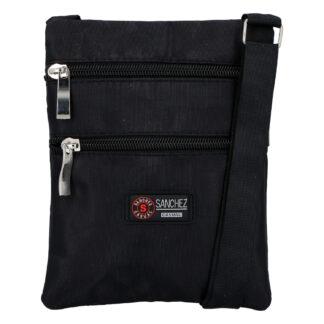 Textilní černá unisex crossbody kapsička - Sanchez F85 černá