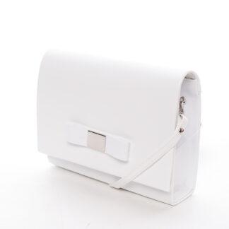 Luxusní dámské psaníčko bílé lesklé - Delami Chicago Fresno bílá