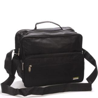 Pánská látková taška přes rameno černá - Sanchez Giulio černá