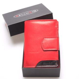 Luxusní větší dámská kožená peněženka červená - Bellugio Calista červená