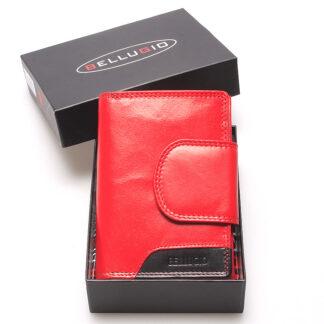 Středně velká dámská kožená peněženka červená - Bellugio Calla červená