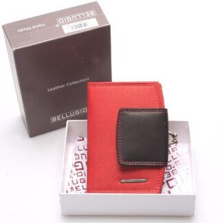 Luxusní dámská kožená peněženka červená - Bellugio Armi červená