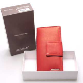 Velká dámská kožená peněženka červená - Bellugio Glykys červená
