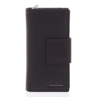 Velká dámská kožená peněženka černá - Bellugio Glykys černá