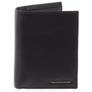 Pánská hladká kožená peněženka černá - Bellugio Cadmus černá