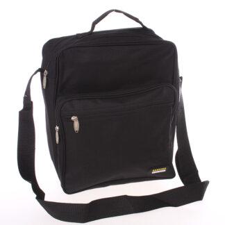 Pánská látková taška přes rameno černá s uchem - Sanchez Torba černá
