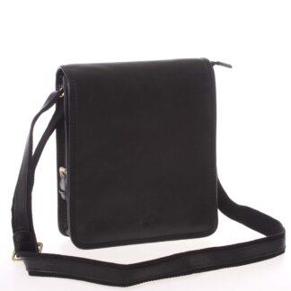 Pánská kožená taška přes rameno černá - Gerard Henon Bugros černá