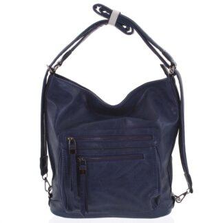 Dámská kabelka batoh modrá - Romina Jaylyn modrá