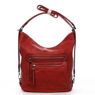 Dámská kabelka batoh červená - Romina Jaylyn červená