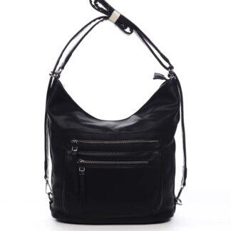 Dámská kabelka batoh černá - Romina Jaylyn černá