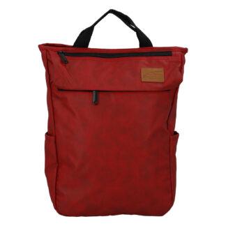 Trendy a stylový tmavě červený batoh - New Rebels Genderus Next červená