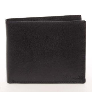 Kožená elegantní černá peněženka pro muže - Delami Gaillard černá