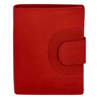 Pánská kožená prošívaná peněženka červená - Diviley Universe červená