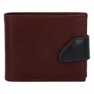 Hladká pánská hnědá kožená peněženka - Tomas 76VT hnědá