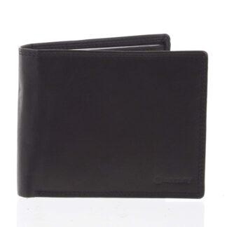 Praktická pánská volná černá peněženka - Diviley Unibertsoa černá