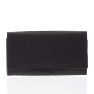Dámská klasická černá kožená peněženka - Diviley Svemir černá