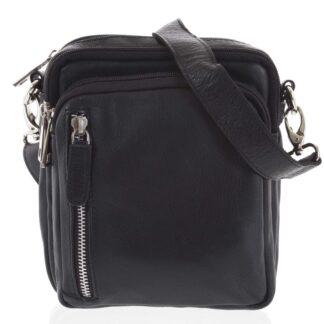 Černá pánská kožená taška na doklady - Tomas Svemir černá